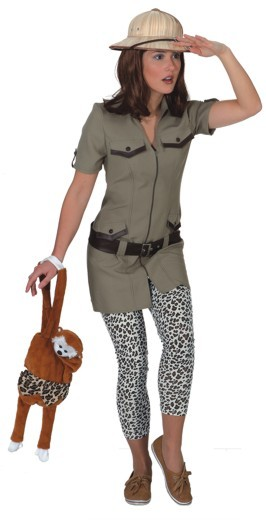Safarikleid (Kleid, Gürtel) in den Größen 36 bis 44