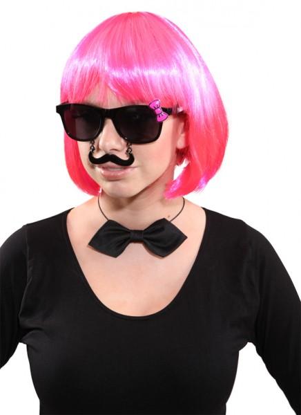 Faschingszubehör Brille Schnäuzer Lady