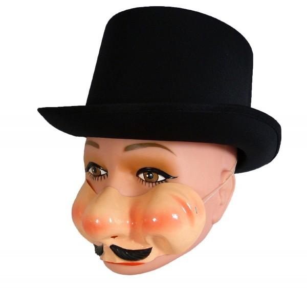 Maske Gilbert - Gentlemen mit Pausbacken und Schnauzbart - Plastewangen