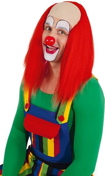 Perücke Clownglatze, rot
