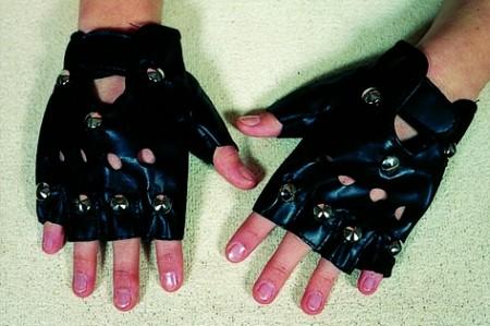 Faschingszubehör Punk-Handschuhe