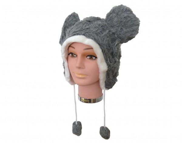 Tiermütze Plüsch Mütze Maus