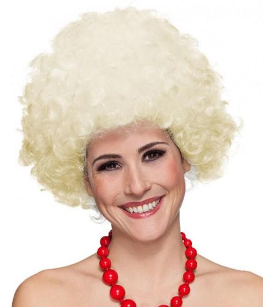 Perücke Hair große Locke, blond