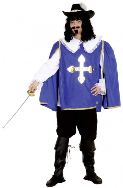 D'Artagnon, blau (Hemd, Überwurf, Hose) - Größe: 50/52 - 58/60