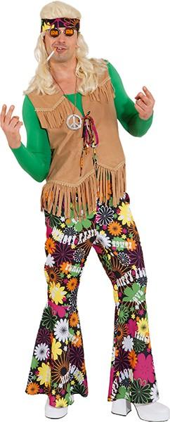 Hippie Weste beige - Größe: 48/50 - 56/58