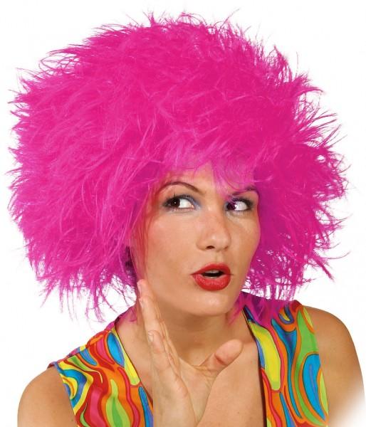 Faschingsperücke Damen: Struwel, pink