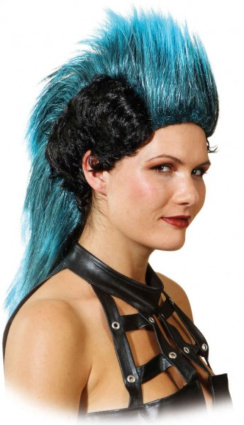 Perücke Cherokee, schwarz-blau