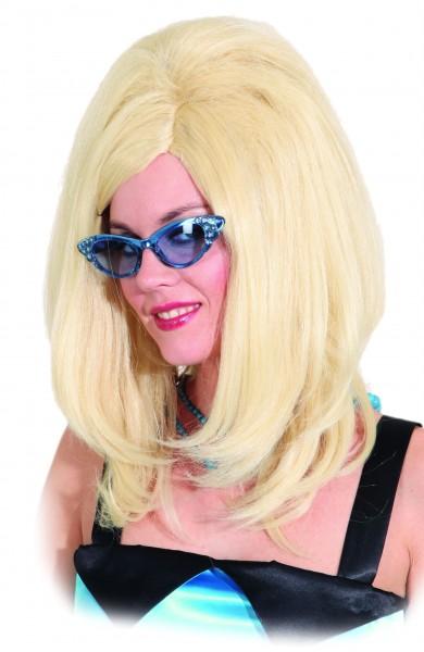 Faschingsperücke Damen Sixties blond