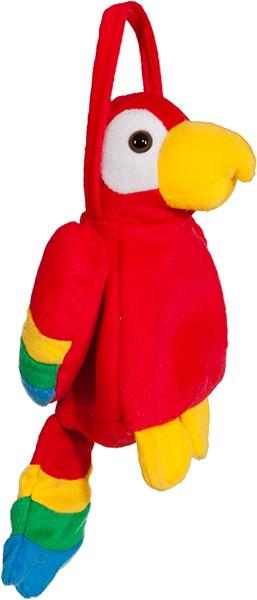 Faschingszubehör Tasche Papagei