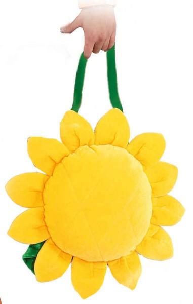 Faschingszubehör: Sonnenblumen-Tasche