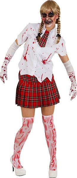 Faschingszubehör Blut-Handschuhe weiß-rot