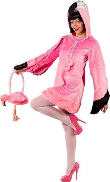 Fasching Kostüm Damen Kleid Flamingo