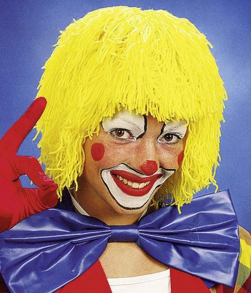 Faschingsperücke Clown Wolle, gelb