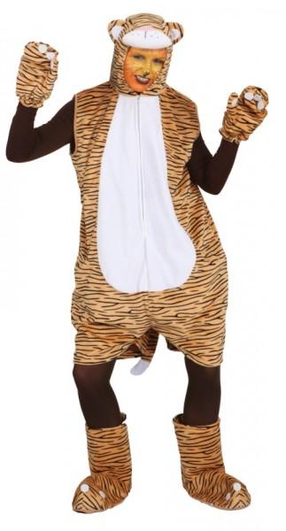 Tiger für Damen (Overall, Handschuhe, Fußstulpen) - Größe: Unisize