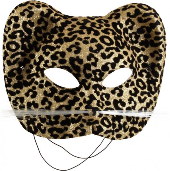 Fasching Maske Leopard de Luxe