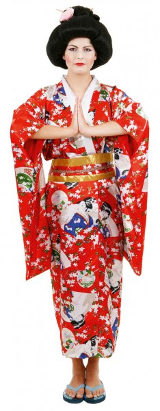Kimono, rot - Größe: Unisize