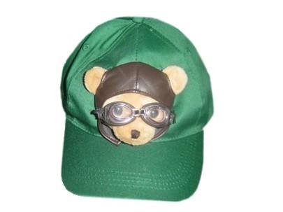 Baseball Cap grün Pilotbär, Größe verstellbar
