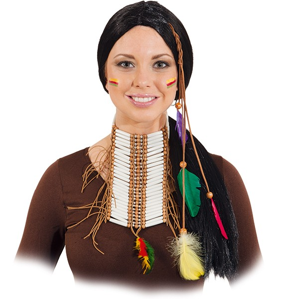 Perücke Indianerin Schwarzer Falke