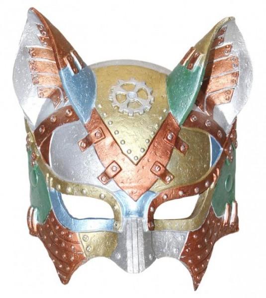 Fasching Maske Steampunk Katze