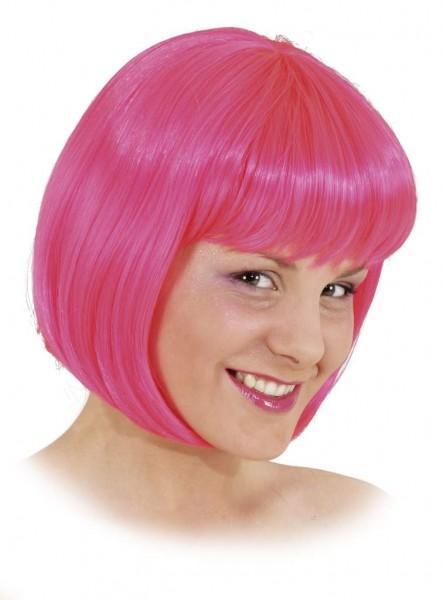 Perücke Sexy Lola, neon-pink