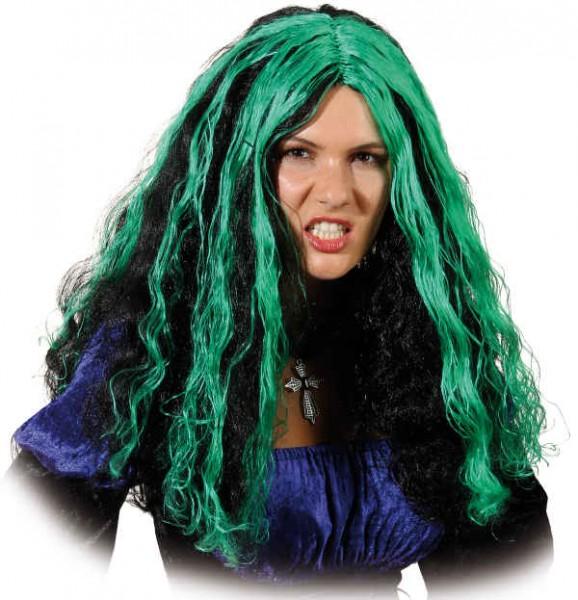 Faschingsperücke Damen: Barbett, schwarz-grün