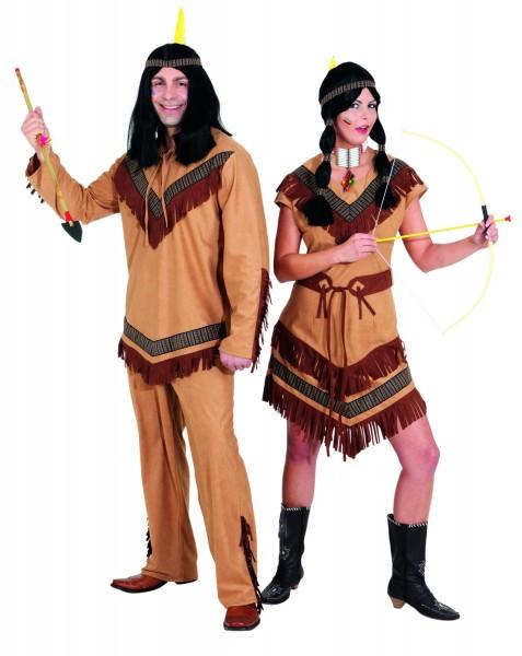 Indianer Cheyenne (Oberteil und Hose) - Größe: 50/52 - 58/60