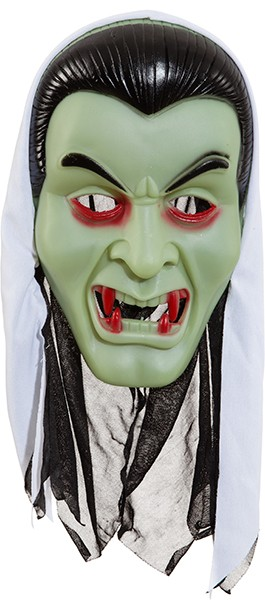 Vampir Maske mit weißen Kopftuch