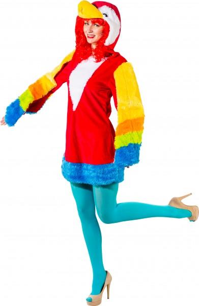 Fasching Kostüm Damen Kleid Papagei