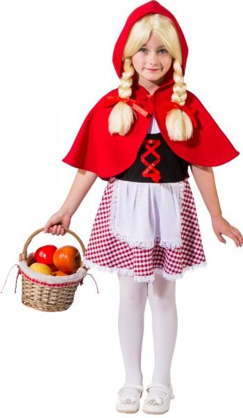 Fasching Kostüm Kinder Rotkäppchen - Kleid mit Cape