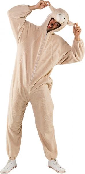 Fasching Kostüm Erwachsene Overall Schaf beige