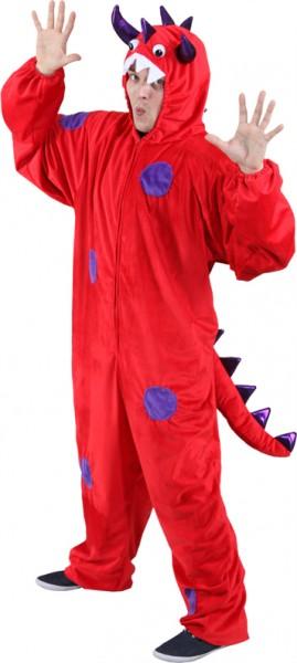 Monster, rot-lila (Overall) für Herren - Größe: Unisize