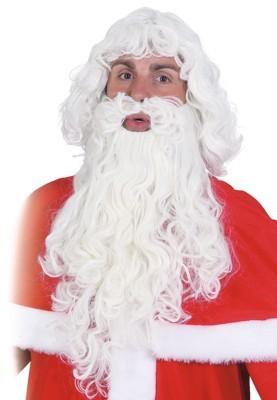 Weihnachtsmann-Set, natur (leicht gelockt)