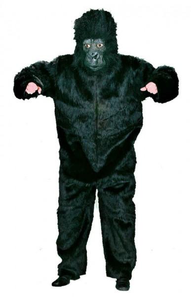 Plüsch-Overall Gorilla für Damen und Herren (Einheitsgröße) in schwarz