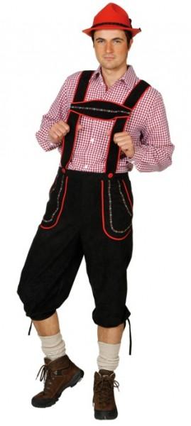 Bayern Bub Hose, schwarz - Größe: 50/52 - 58/60