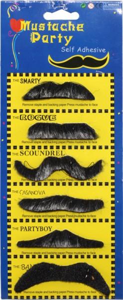 Bartkarte, schwarz/grau (6 Stück)