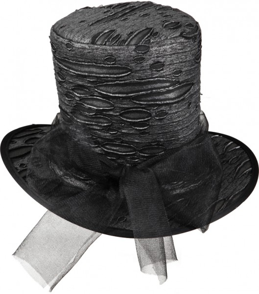 Faschingshut: Damen Gothic - schwarz