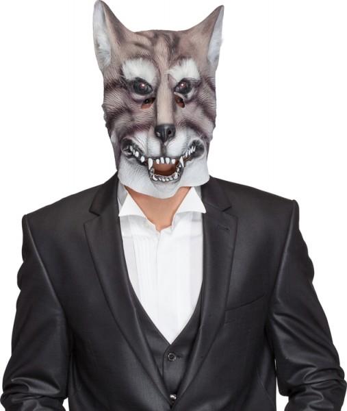 Fasching Tiermaske Wolf (Gummimaske)