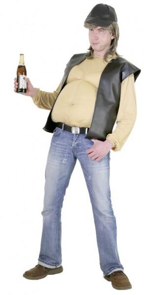 Bierbauch (T-Shirt mit Bauch, Weste und Mütze) - Größe: Einheitsgröße
