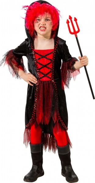 Fasching Halloween Kostüm Kinder Teufel - Kleid mit Kapuze