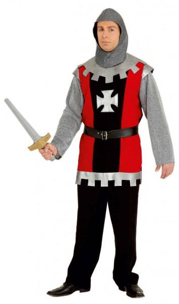 Ritter, rot-schwarz (Oberteil, Haube) - Größe: 50/52 - 58/60