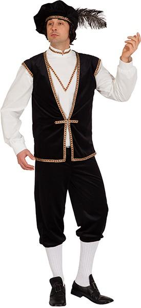 Gutsherr (Weste, Hemd, Barett) - Größe: 46/48 - 58/60