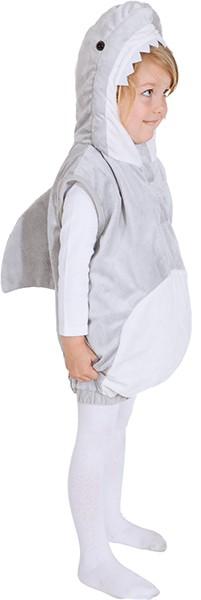 Hai Weste, grau-weiß (Weste mit Kapuze) - Größe: 104 - 116/128
