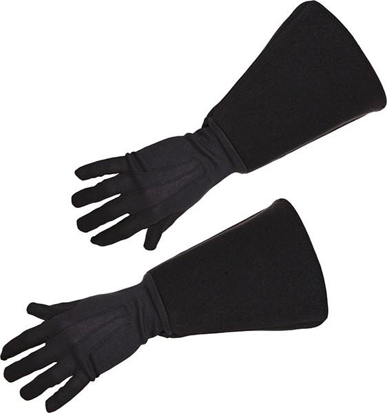 Faschingszubehör Musketier Handschuhe schwarz