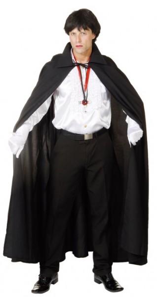 Faschingskostüm Umhang für Vampir/Hexenkostüme in schwarz (Unisize)