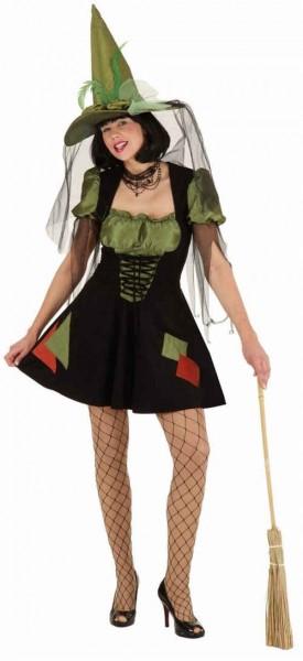 Sexy Waldhexe, grün-schwarz (Kleid) - Größe: 36 - 44
