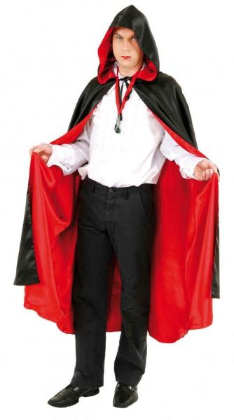 Wendeumhang mit Kapuze, schwarz-rot - Größe: Einheitsgröße