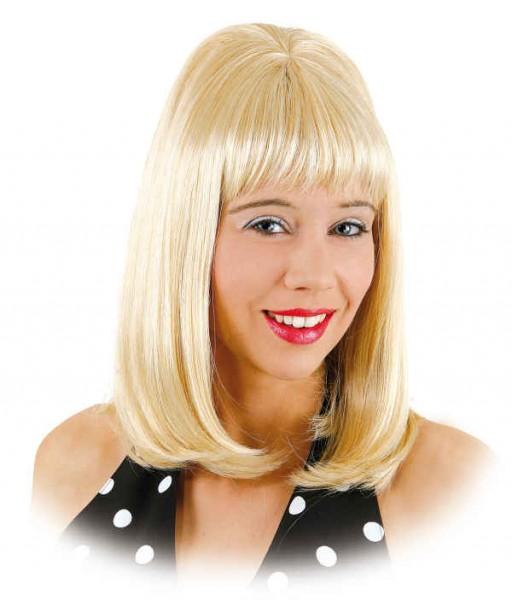 70/80er Jahre Perücke toupiert blond