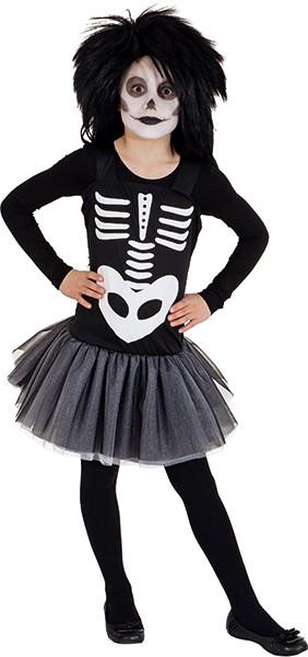 Skelett Kleid (Teeni-Kleid) - Größe: 152 - 176