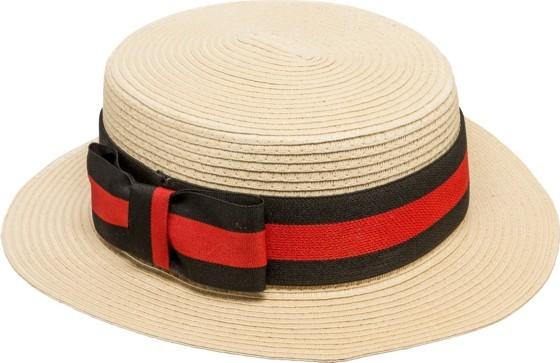 Fasching Hut Kreissäge mit Band schwarz-rot KW 58