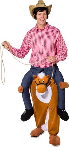 Fasching Kostüm Erwachsene Huckepack Pferd